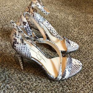 Jessica Simpson snake heels 7.5